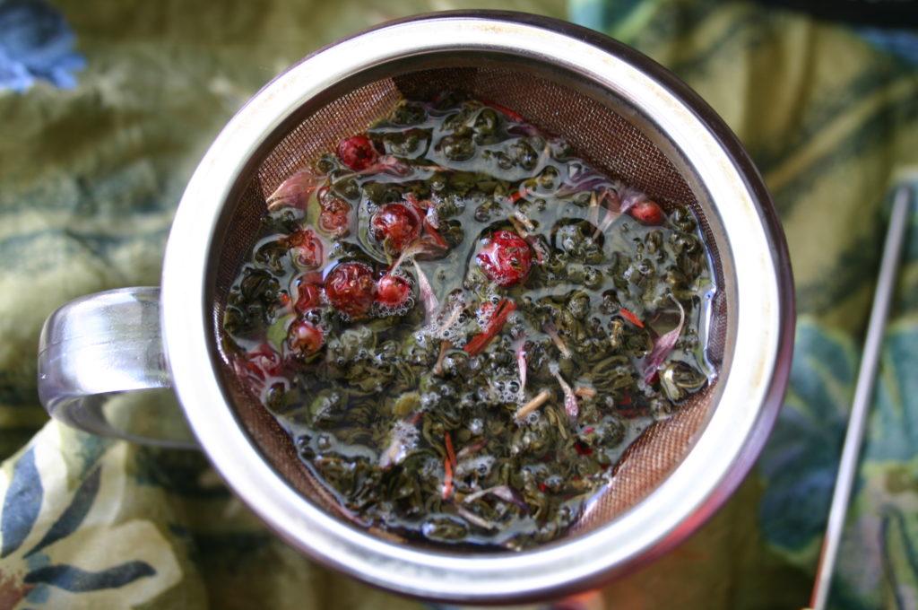 Herbata zdodatkami wsitku