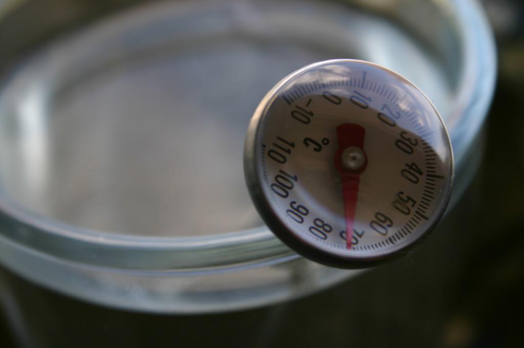 Temperaturę wody można sprawdzić zapomocą wygodnego termometru doherbaty (ok. 10zł)