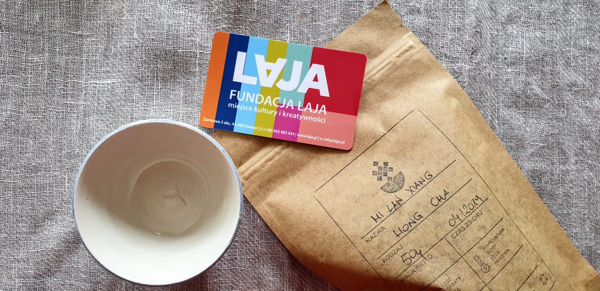 Opakowania: herbaciarnia Laja